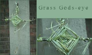 Grass Gods-eye by fadedoak-craft