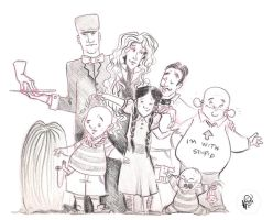 Adams family by Lelpel