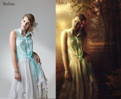 Before-After Summer Girl by DigitalDreams-Art