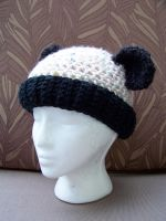 Cheerful Panda Beanie by user-name-not-found