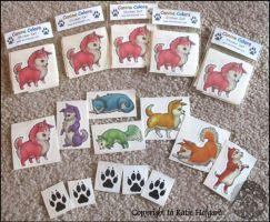 Canine Colors Stickers by KatieHofgard