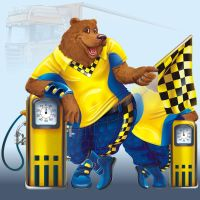 Bear at a gaz station by GruberJan