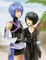 Aqua and Xion by Kitimisu