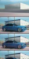 process of Materials Study of blue BMW by TheArtofSaul