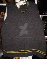 Hufflepuff Sweater Vest by QueenNekoyasha