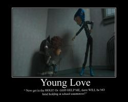 Young Love Coraline and Wybie by DaughterRootless