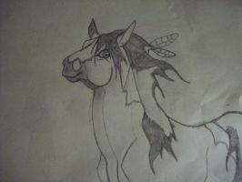Old horse drawing by Camaru