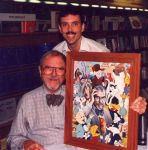 Chuck Jones and myself by painter1980