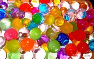 Colourful water marbles by AmbreenKhanAmber