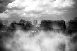 Village in the fog by MarcinDawidowicz