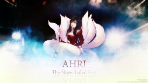 LoL Wall - Ahri - The Nine-Tailed Fox by Sirhaian