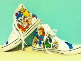 Pokemon shoes by MakeTheWorldYours