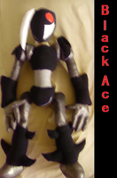 BlackAce Plushie Full body pic by ShadowStanEnvy
