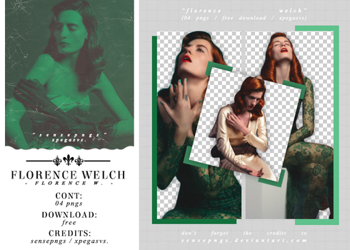 Pack Png 470 - Florence Welch by SensePngs