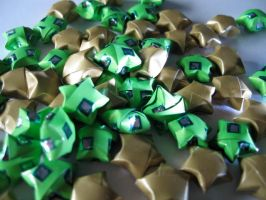 Origami lucky stars 2 by OrigamiGenius