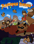 Raccoon Rodeo by ghoststriker