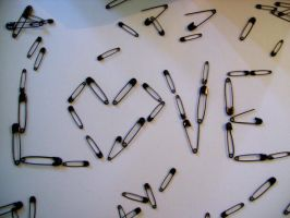 Safety pin love by matalic-butterfly