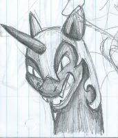 Nightmare Moon Sketch 2 by ChristinaFeonora