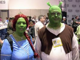 Shrek and Fiona at Comic con08 by kanxten