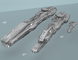 Ship size comparison by Jholliday