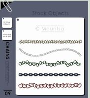 Object Pack - Colorful Chains by MouritsaDA-Stock