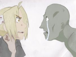 Edward Elric Faces A Soul (from Episode 26) Color by pichu398