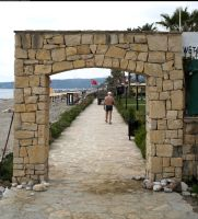 Stone gate or portal by enframed