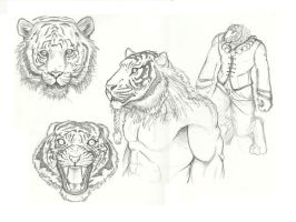 Tiger-man Concept Sketch by GabrieleDerosasArt