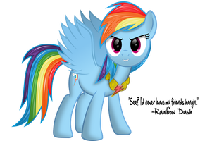Rainbow Dash The Element Of Loyalty by ZeeGaaS