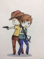 Rick and Daryl by MadHatter-cat