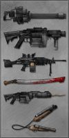Undead Planet - Weapons 2 by sergio-garcia