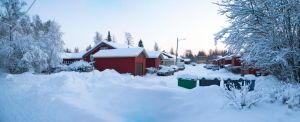 Snowy Residential Area by Spelarin