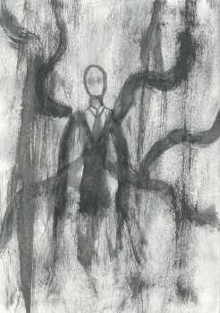 30 second drawing of Slender man by MarchOfHell