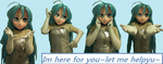 Giving a hand_aqua by Specialwater7