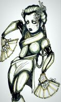 robot geisha by MountTrouble