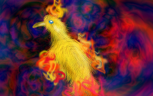 Moltres in a gimp world by Sulfura