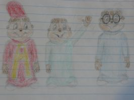 Alvin and the Chipmunks sketch by NK-Jizzer
