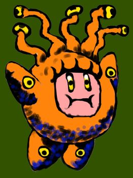Kirby Beholder Costume by dreadscorch