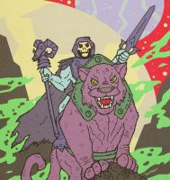 Skeletor and Panthor by Hartter