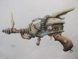 Watercolor Raygun by BrotugueseViking
