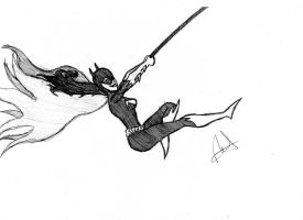 Another Batgirl sketch by WaterWizz