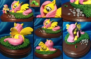 Fluttershy Sculpture [SOLD] by AlicornParty