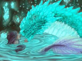 The Dragon and Mermaid by PandziaXD1882
