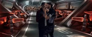 Shepard and Kaiden by Diimitrii