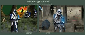Draw this again! ''Cpt. Rex. Execute order 66'' by DeAeRO