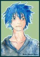 Blue Haired Boy by Anderie-Meyer