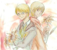 Alfred and Ivan by VeraLakshmi