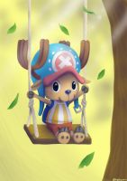 Chopper on the Sunny Swing by EmeraldSILVER