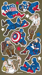 captain america stickers! by gazdowna