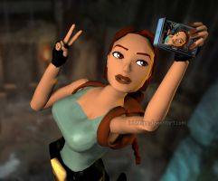 Lara Croft: Say Cheese! by Irishhips